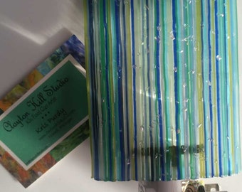Fused Glass Night Light - Caribbean Waters