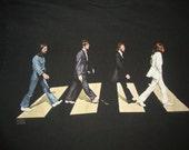 Vintage 90's THE BEATLES Paul McCartney John Lennon George Harrison Abbey Road T Shirt Adult size L