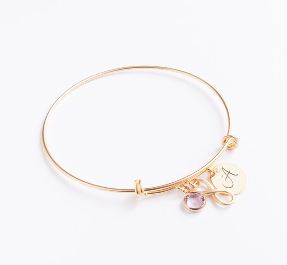 Personalized Gold Charm Bangle Bracelet | Gold Charm Bangle Bracelet  | Gold Bangle | Personalized Bangle | Gifts for her