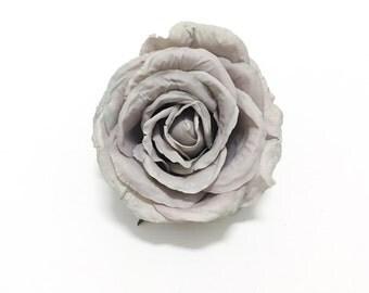 Artificial LAVENDER GRAY Cabbage Rose - OOAK Artificial Flower, Silk Flower, Wedding Flowers, Flower Crown, Millinery, Wedding Flowers, Hat