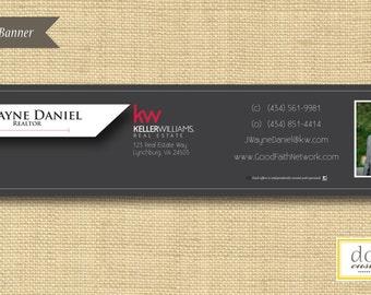 Digital File | Custom Email Signature Banner | Dark Grey | Any Color Any Company
