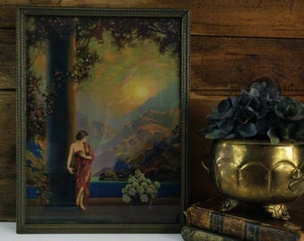 Vintage Maxfield Parrish framed print