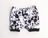mickey mouse shorties / disney shorts / baby leggings / toddler shorts / newborn to 4t
