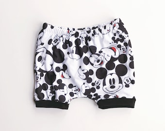 mickey mouse shorties / disney shorts / baby leggings / toddler shorts / newborn to 4t