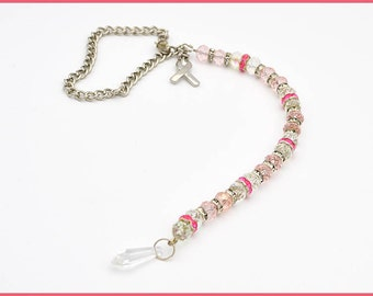 Pink Awareness Mirror Charm - Window Charm - Awareness Window Charm