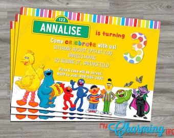 Sesame Street Party Invitation PRINTABLE - Digital Download - Kids - Birthday
