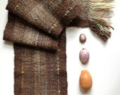 Handwoven Alpaca, Navajo Wool, Handspun Wool, Limited Edition Scarf, Kids, Small