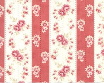 Poetry - Rosebud Stripe in Rose by 3 Sisters for Moda Fabrics