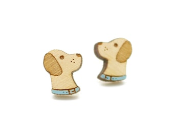 Labrador earrings ~ laser cut dog stud earrings