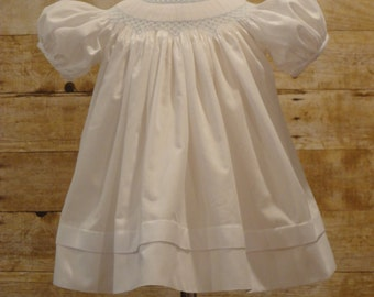 Hand Smocked Little Girls Dress Size 3 Months