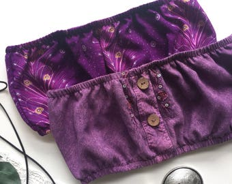 Purple lilac lavender paisley boho crop cropped tube top