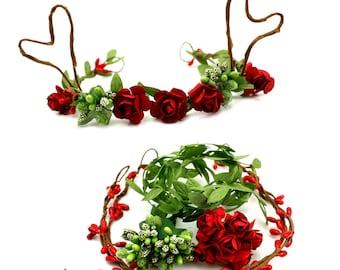 Reindeer Antler Headband Kit,Reindeer Antlers, Reindeer Headband, Christmas Headband, Christmas Headband Baby - Hairbow Supplies, Etc.
