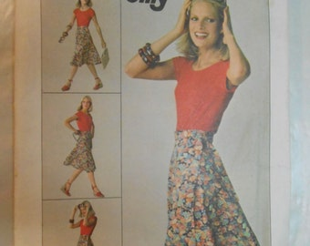Vintage PATTERN Simplicity  JIFFY 7876 or 9749 Misses' Front-Wrap Skirt Size Medium 14-16