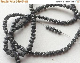 60% HOLIDAY SALE Black Rough Diamonds, 0.5mm Hole Size, Raw Diamonds, Conflict Free Diamond, Rough Diamonds, Natural Rondelle Diamond Beads,