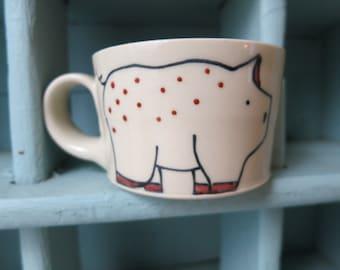 Pig Espresso Cup - Handmade Tiny Mug