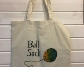 Ball Sack screen printed market bag