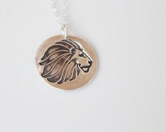 Alpha Delta Pi Lion Mascot Necklace in Silver // ADPi Lion Necklace // Sorority Necklace Alpha Delta Pi Greek Licensed