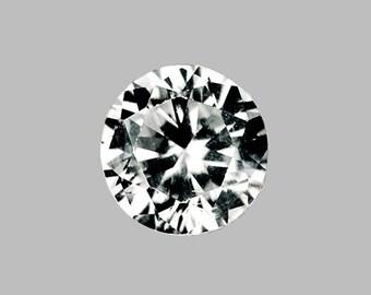 ZIRCON (33143)  - Fiery! 4mm Round  Faceted Zircon - Diamond Cut!  VVS Clean! Gorgeous!