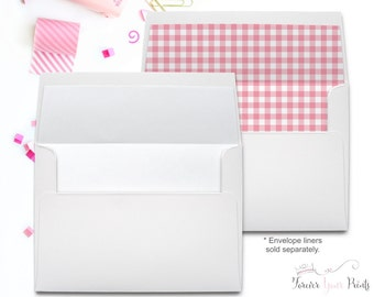 A7 Square Flap White Envelopes, White 5x7 Envelopes, 5x7 Invitation Envelopes, Premium White Envelopes, 5.25x7.25 Envelopes, Plain Envelopes