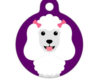 Pet ID Tag - Poodle Pet Tag, Dog Tag