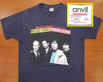 Rolling Stones Voodoo Lounge tour vintage t-shirt XL navy blue 90s 1994 rock n roll band concert
