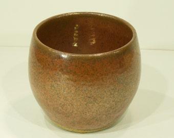 Succulent Planter, Iron Red Shino Glaze, Handmade, Ceramic,  Pottery Wheel, Indoor Pot, Home Decor, MJS, 219