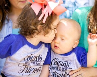 Cousins Make The Best Friends Onesie///SPORT BODYSUIT//Reunions//Photo Props