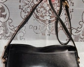70% OFF MOVING SALE Authentic Vintage Coach Purse- Crossbody handbag-Black Leather -Made in Usa