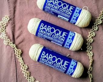 DMC Baroque Crochet Cotton - 3 Skeins Ecru