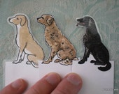 Puppy Dog Party Favors - Set of six handpainted bookmarks