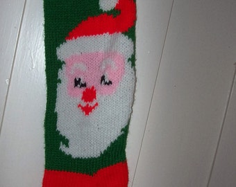 For Christmas 2016 Hand Knit Christmas Stocking Mr. Claus Santa  Personalized: Ready to be shipped