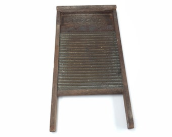 Antique Wash Board, Rustic Home Decor, Soap Saver by National Washboard Co
