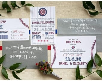 Baseball Ticket Invitation Set