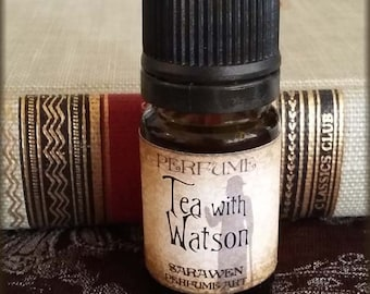 TEA WITH WATSON Perfume Oil / Inspired by Sherlock Holmes perfume cologne oil / Vegan perfume