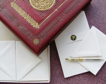 Art Deco Stationery Set Box Envelopes Writing Paper Ephemera Letters Ornate Writing Box Paper Correspondence