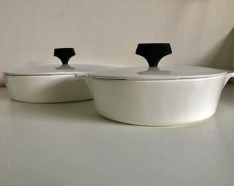 Midcentury Corningware Casserole Dish & Skillet