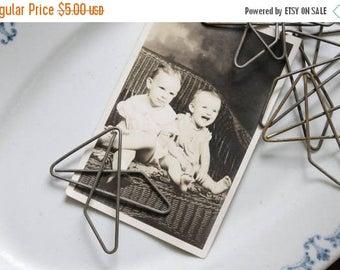 SHOP SALE 6 Vintage Butterfly Paper Clips