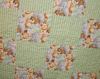 Baby Animals Patchwork Quilt