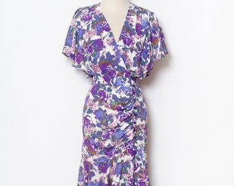 80s Vintage Dress / 90s dress / Tea dress / Dress flower print / Barbara Barbara / summer dress / Women's Clothing / floral / 1980s Fashion