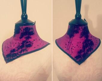 REDUCED - Bright pink/magenta neck corset