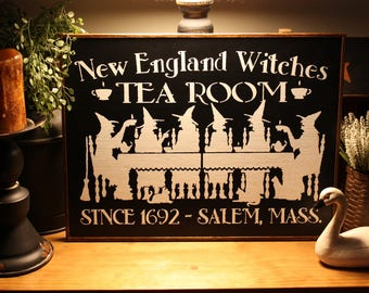 New England Witches Tea Room Wall Sign