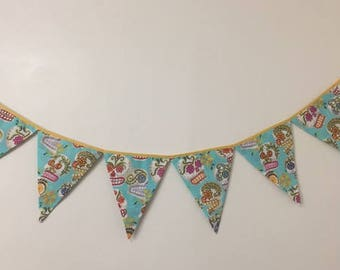 Large Day of the Dead Fabric Banner, Bunting,Garland