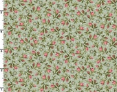 ON SALE - Tiny Rosebuds in Green  8326-G - Graceful Moments by Maywood Studio - By the Yard