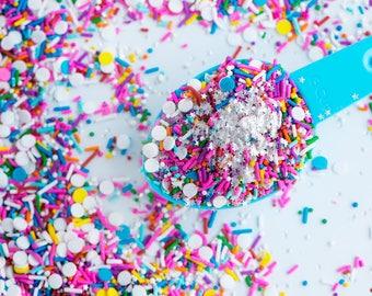 BIRTHDAY PARTY Vegan/GF Sprinkle Medley, Sprinkle Mix, Rainbow Sprinkles, Canadian Sprinkles