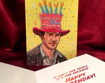 INDIANA JONES Birthday Card!