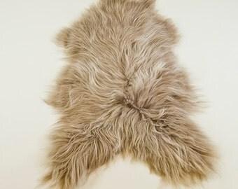 Large TAUPE Icelandic Sheepskin Rug / Throw / Fur