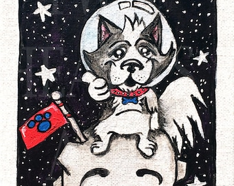 Space Pup Giclee Art Print