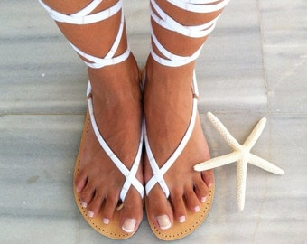 SALE gladiator sandals, lace up sandals, handmade leather sandals