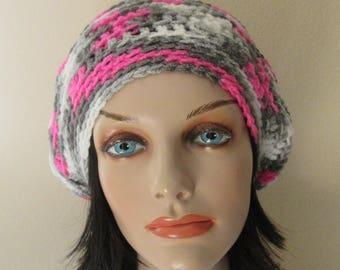 Crochet Slouchy Beanie Hat, Women's Slouchy Hat, Slouch Hat, Slouch Beanie, Boho Fashion