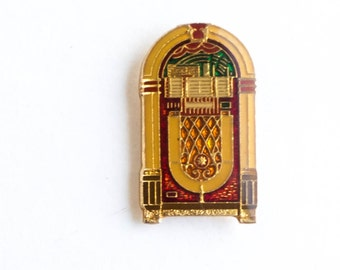 Vintage Enamel Pin, Retro Jukebox , Lapel Pin, Flair, Pin Badge